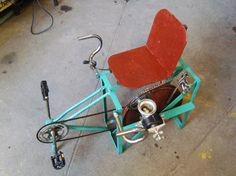 Donated bicycles transformed into pedal-powered machines for use where electricity is too expensive or inaccessible.