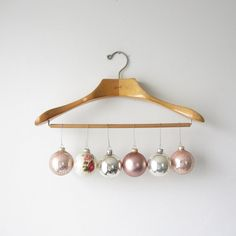 Vintage / Pink Glass Ornament Collection / 6 by TintedVintage, $24.00