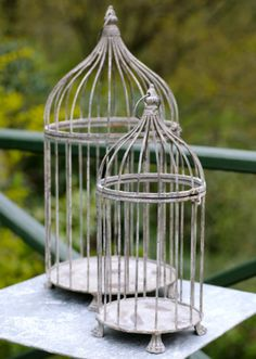 birdcage planters by the balcony gardener - love these!