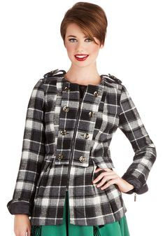 Day at the Dog Park Coat. Even though the weather is colder, your favorite furball still needs his exercise, so you grab the leash and head outside in this plaid coat!  #modcloth