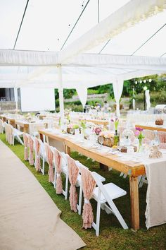 Pink And Taupe Outdoor Wedding - The Wedding Notebook magazine Reception Decorations, Table Decorations, Wedding Notebook, Garden Venue, Beautiful Calligraphy, Chic Wedding, Lifestyle Photography, Earthy, Party Time