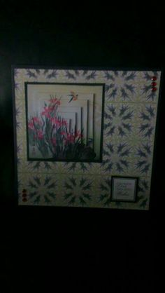 Card made using The Oriental Flower Garden CD Rom by Celticmoon Crafts