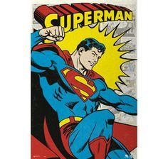 Superman Poster Retro Comic. Hier bei www.closeup.de