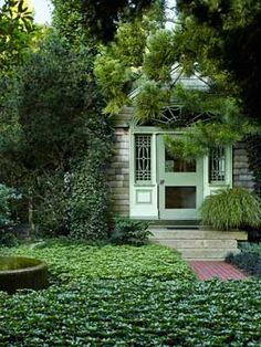 Never under estimate the power of common pachysandra.    Landscaping Tips from Sean Conway - Garden Design Ideas - Country Living