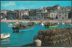 View from the Harbour, St Ives, Cornwall, c.1960s - Photo Precision Postcard