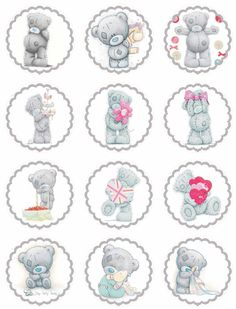 Laine Design: Freebies – Lovely site for printable pics for parties. Tatty Teddy, Teddy Images, Party Banner, Bear Cupcakes, Teddy Bear Birthday, Blue Nose Friends, Bear Party, Bottle Cap Crafts, Bottle Cap Images
