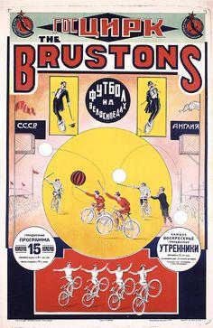 RARE Original 1910s 20s Russian Circus Poster Brustons | eBay