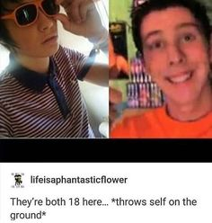 """Wow Phil with no fringe. He still looks good tho. Dan looks so """"can't touch this""""lol"""