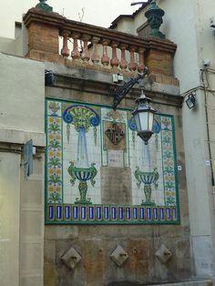Vila de Gràcia , ( Font ) Barcelona Catalonia