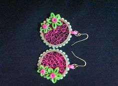 Earrings Paper Quilling Earrings, Origami And Quilling, Quilling Craft, Quilling Patterns, Quilling Designs, Quilling Ideas, Paper Bead Jewelry, Paper Beads, Paper Quilling Tutorial