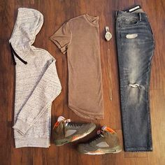 Outfit grid - Hoodie & jeans