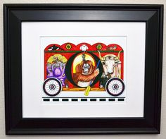 Word art by Tammy Oliver Designs. This train car has 20 items on it that start with the letter O. Can you find them all?