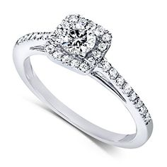 Diamond Engagement Ring 1/3 carat (ctw) in 14k White Gold