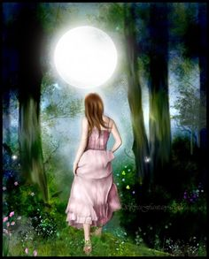 """Take a walk under the Full Moon tonight, feel her loving energy hold you tight, make a wish upon that star, know that all your dreams are not very far.""  - Jasmeine Moonsong"