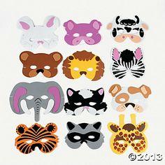 Animal Masks $6.25 dozen #zoo #birthdayparty