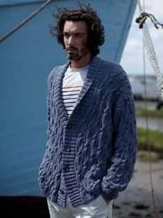 Cable knit cardigan with ribbing detail - how do I get this pattern. - Close in appearance to the green one I want?