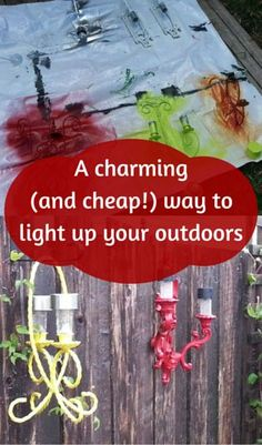 A Charming (and Cheap!) Way to Light up Your Outdoors  http://www.hometalk.com/l/U5G