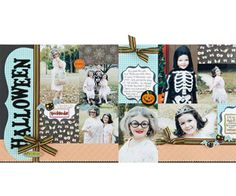 Nontraditional Halloween Scrapbook Page