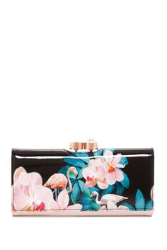 35be3e5ce0 Image of Ted Baker London Summer Orchid Wonderland Leather Matinee Wallet