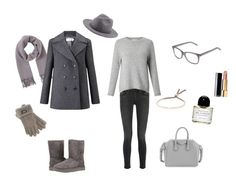 """""""Many shades of grey to keep me warm X"""" by lijalinn on Polyvore featuring UGG, Miss Selfridge, Frame, John Lewis, Byredo, Chanel, Monica Vinader, Givenchy and Yves Saint Laurent"""