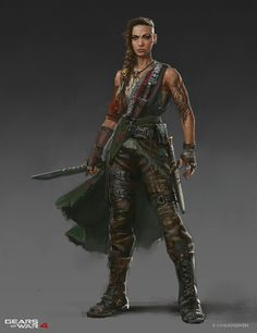 Armors 131589620347589505 - ArtStation – Gears of War 4 Characters, Andrew Domachowski Source by donicaio Fantasy Warrior, Fantasy Rpg, Medieval Fantasy, Final Fantasy, Female Character Design, Character Creation, Character Art, Character Ideas, Fantasy Inspiration