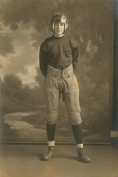 1920's Football player   I chose this be ause of how much the uniform an pads have changed since then