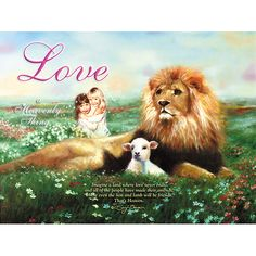 This is a print by Jan Bower, a homeschooling mom of who is a very gifted artist. I absolutely love lions and lambs and this would be a wonderful addition to my collection. Jehovah's Witnesses Beliefs, Peace At Last, Isaiah 11, Lion And Lamb, Like A Lion, Prophetic Art, Heart Pictures, Lion Of Judah, Warrior Princess