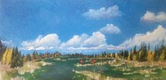 "Explorers, 2012, 12"" x 24"", Acrylic on Canvas, $450."