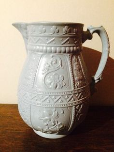 RELIEF MOULDED DUDSON JUG MID 1800s FLORAL PATTERN - PERFECT CONDITION
