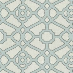 Spa and Gray Fretwork Fabric | Carousel Designs #fabric #baby #nursery