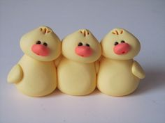 Polymer Clay Easter Chicks by ClayPeeps on Etsy, $12.00