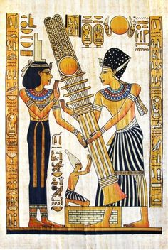 Illustration about Superfine scan of Egyptian papyrus. Illustration of history, aged, handmade - 4527680 Ancient Egypt Art, Ancient Aliens, Ancient History, Ancient Mysteries, Ancient Civilizations, Egyptians, Egyptian Art, Egyptian Cross, Illustration Art