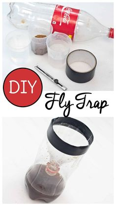 Make a homemade fly trap for indoor use with just a few simple items you probably already have on hand with this fly trap DIY! via fly trap Homemade Fly Trap DIY Dyi Fly Trap, Bug Trap, Diy Fruit Fly Trap, Fly Traps Diy, Fruit Fly Traps, Best Fly Trap, Homemade Gnat Trap, Homemade Fly Traps, Homemade Fly Spray