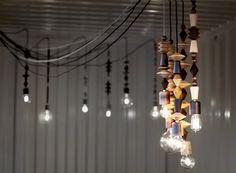 Bright Beads Pendant Lights by MARZ DESIGNS...So very much in love with these!