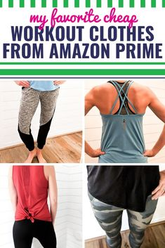 Whether you're heading to the gym or just lounging around the house, I'm sharing my very favorite cheap and cute workout clothes that you can grab on Amazon Prime. These outfits are affordable and comfortable, and they're great for teens or women. (You're going to love the leggings I share!) Did I mention that they're so cute?
