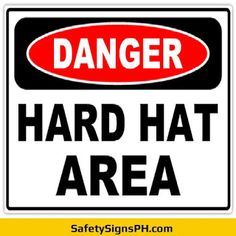 Aimed at preventing serious head injuries at workplace, our mandatory hard hat area signs will ensure your fa. Construction Safety, Hand Lettering Alphabet, Workplace, Philippines, Signs, Hats, Hat, Shop Signs, Hipster Hat