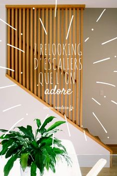 7 relooking d'escaliers que l'on adore ! www.soodeco.fr/ Stair Railing Design, Basement Stairs, House Stairs, House Extensions, Home Trends, Basement Remodeling, Kitchen Dining Living, Entry Hall, Stairways