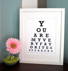 Vintage flare eye chart. Would be adorable in a bathroom. Only $6.50. Via #Etsy