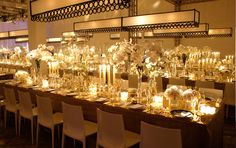 Wedding, Party - White phalaenopsis orchids, white peonies, modern white calla lily arrangements in tall vases