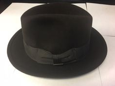 3fa6bf486f6 Stetson Vintage Royal Stetson Dark Brown Fedora Hat Size 7  fashion   clothing  shoes