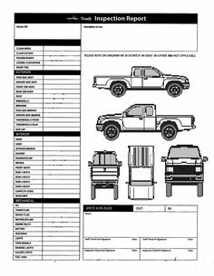 Image result for Vehicle Damage Inspection Form Template