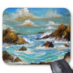 By the Sea Design Mousepad