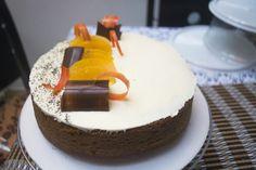 #mr #cake durazno chocolate y amapola