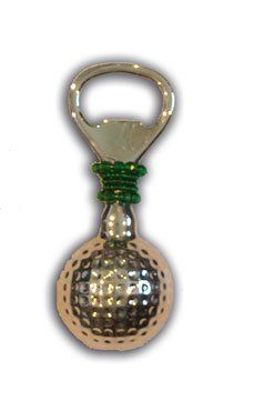 Mum s Creations B03 Bottle Opener-Golf Ball shaped Bottle Opener by Mum s Creations. $22.60. Manufactured to the Highest Quality Available.. Great Gift Idea.. Design is stylish and innovative. Satisfaction Ensured.. Mum s Creations has been creating beautiful home accessories since 1996. Their handcrafted olive picks for martinis and more are sold throughout North America in gift kitchen home decor stores and catalogues. Occasional cleaning in a dishwasher will keep the beadi...