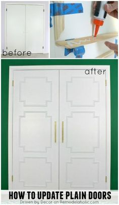 Add Molding to Update Closet Doors