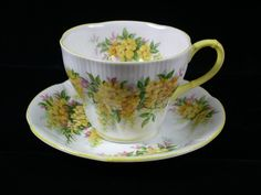 Royal Albert Cup Saucer Blossom Time Series Laburnum