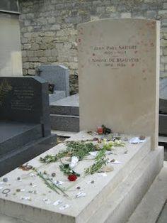 Jean-Paul Sartre and Simone de Beauvoir grave