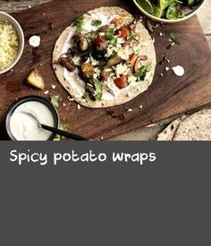 These tasty wraps are a great way to use up any leftover potatoes, but they work particularly well with boiled or baked spuds. Making your own tortillas is trouble-free and very cheap but you can buy them if you prefer. Coriander Seeds, Fennel Seeds, Baked Trout, Leftover Potatoes, Trout Recipes, Vegetarian Bake, Tortillas, Cheddar Cheese, Cheddar
