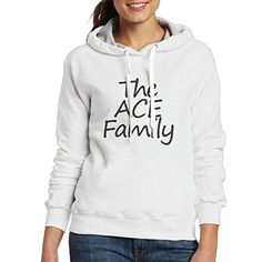 21f4b3506dc9 VicRomanko Women The Ace Family Long Sleeve Young Funny Drawstring Girls Hoodies  Pullover Hoodie