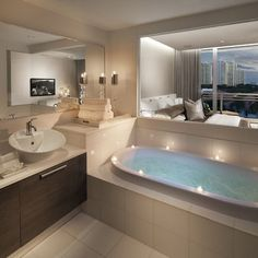 Bathroom Master Bedroom Bathroom Combo Design, Pictures, Remodel, Decor and Ideas - page 31